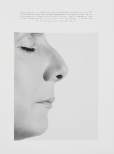 Sophie Calle, Le nez / The plastic surgery, digital print on 100% cotton paper, 27 3/5 x 19 7/10 inches