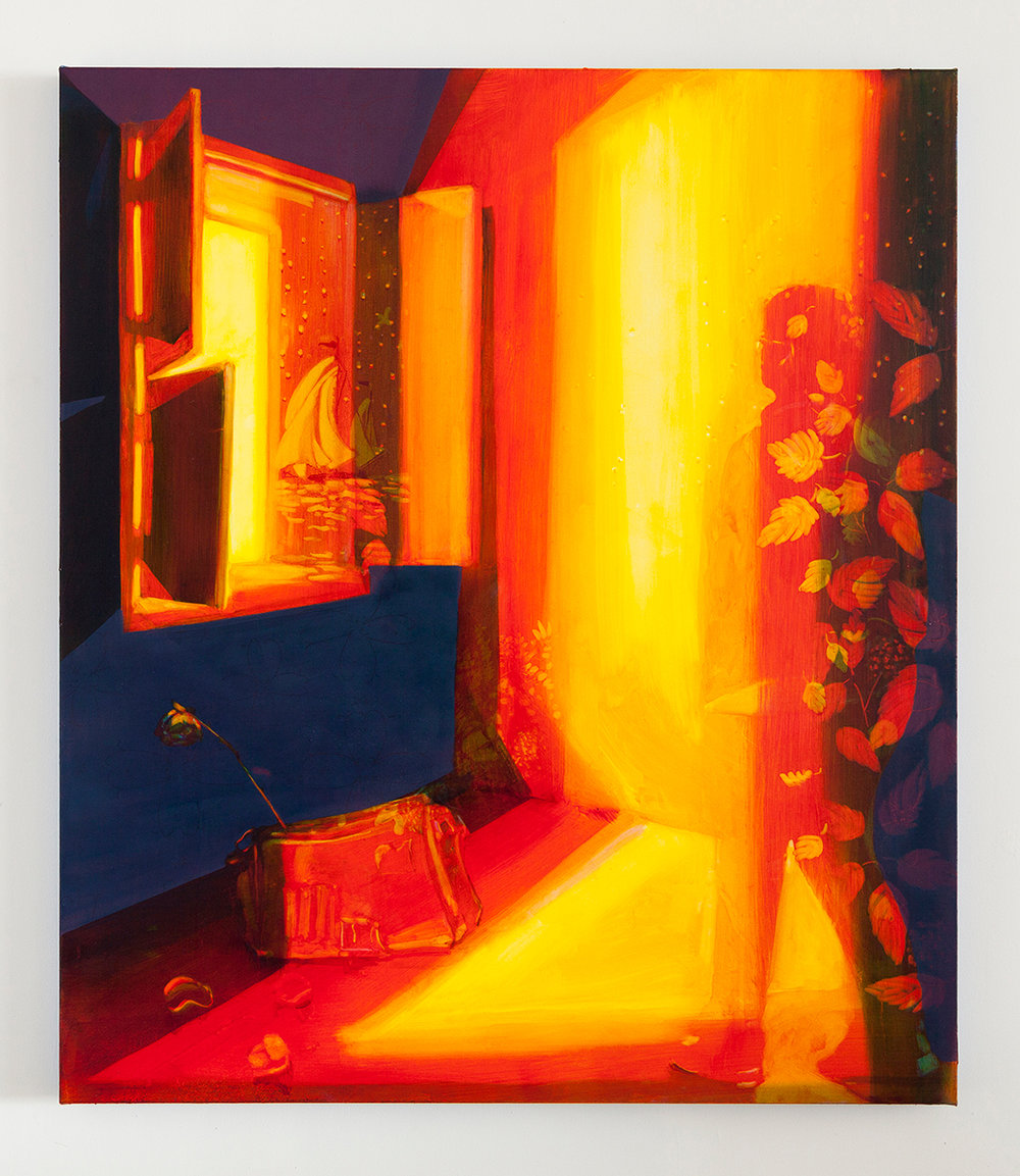 Keiran Brennan Hinton,  In the Light , 2019, oil on canvas, 58 x 50 inches