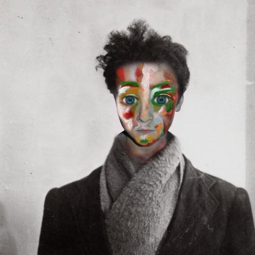 Boy becomes a man  When boys become men series - 2014 edium: Acrylic Paint, Digital Art  (86 x 86cm)