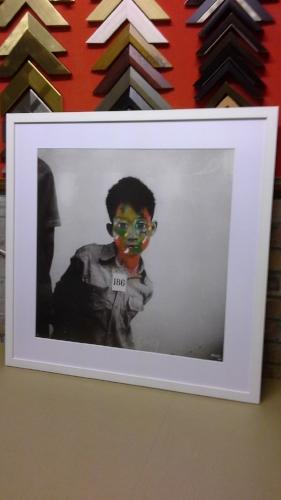 My Son   Human Suffering Series -2014 edium:Acrylic Paint, Digital Art  (762x 762cm)