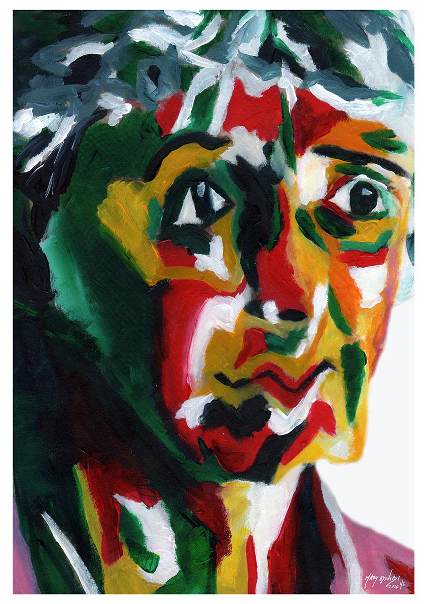Time Gone - Acrylic Paint, Digital Art, 2016 Size: 29.7 x 42cm