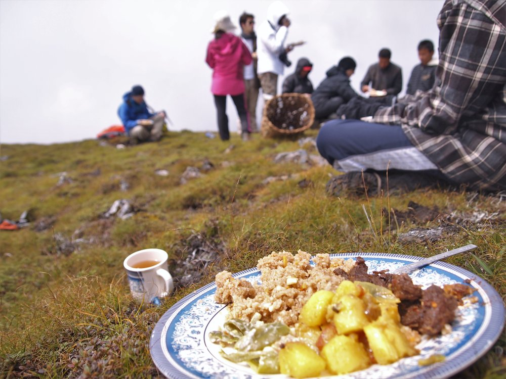 A mountain meal in the Haa Valley .