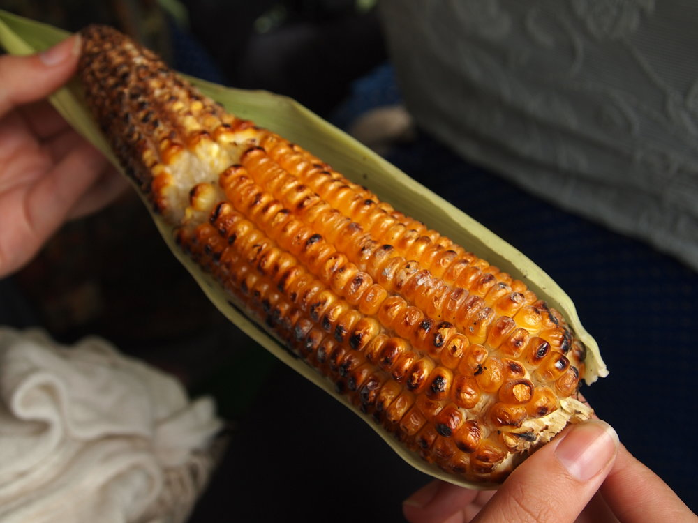 Roasted roadside maize.