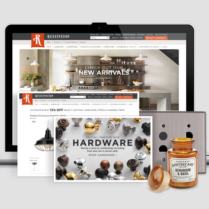 Rejuvenation, a Willams-Sonoma brand, digital redesign, responsive ecommerce website