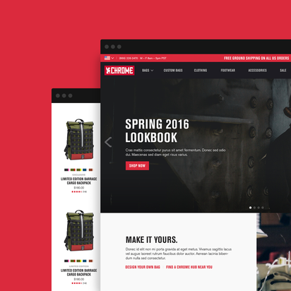 Chrome Industries ecommerce redesign, responsive magento enterprise ecommerce
