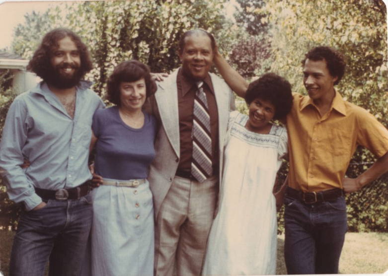 Daniel Hill with his family in 1976