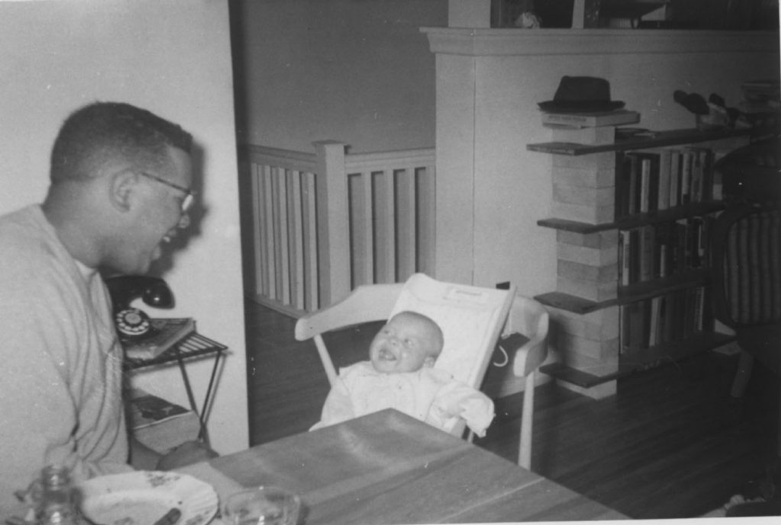 Daniel Hill with son Lawrence in 1957