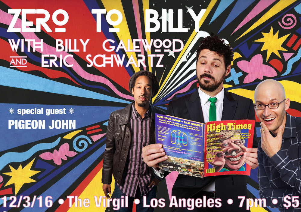 Buy tickets here: https://nightout.com/events/zero-to-billy/tickets#.WDTAw7T-jUU