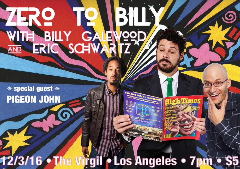 Buy tickets here:https://nightout.com/events/zero-to-billy/tickets#.WDTAw7T-jUU