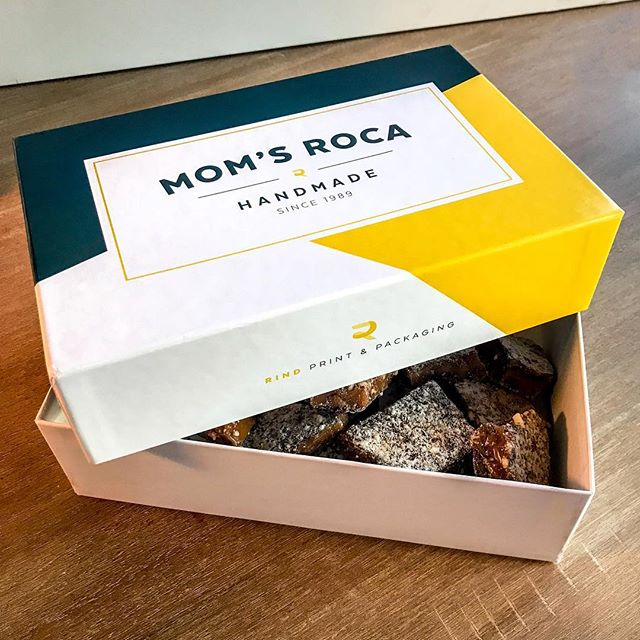 Mom's Roca - Part 3. When you see a project through from concept to completion, there's something extra special about holding the final printed piece in your hands...especially when its full of tasty homemade treats!