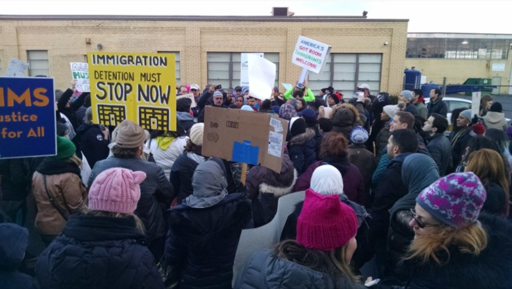 VIDEO, PHOTOS: Maplewood Leaders, Residents Protest Immigration Orders at Elizabeth Detention Center