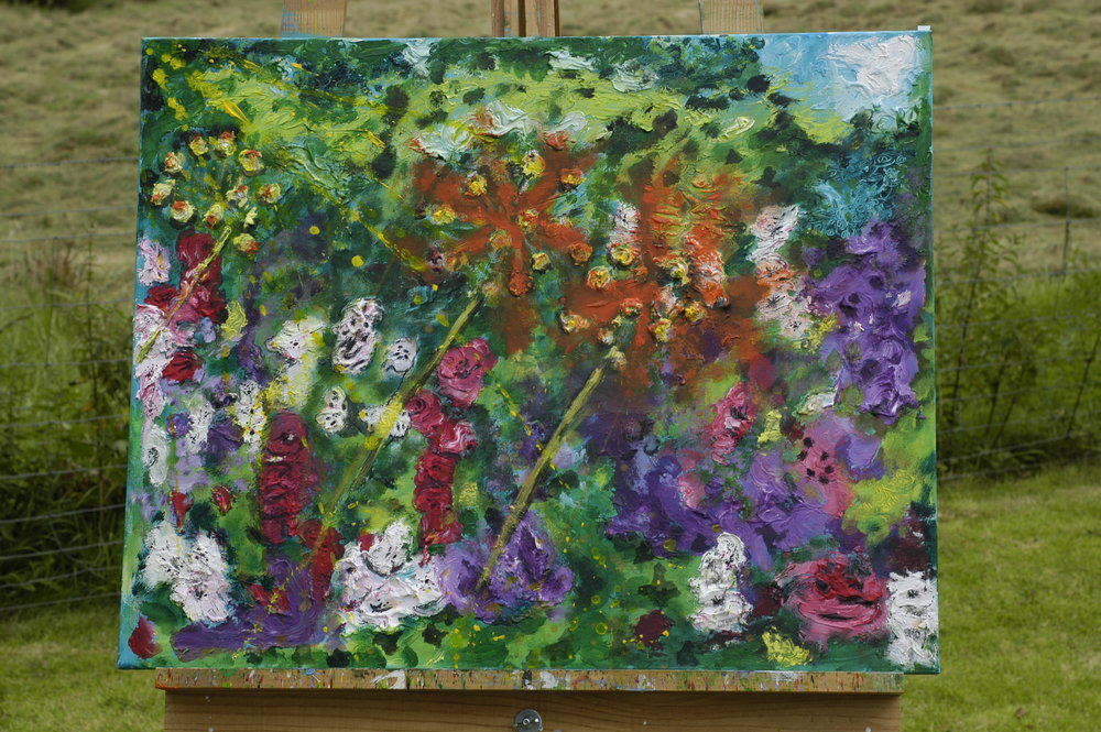 Beautiful...after nearly 45years of not painting....this is the result after the one day expressive and experimental painting course.