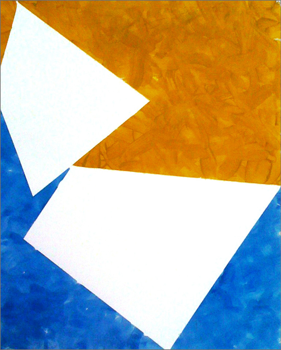 Spaces 8    18 x 26 in   Acrylic on Arches Aquarelle Paper