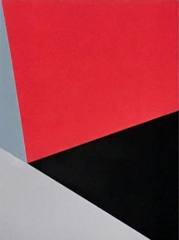 "Bauhaus 2  2018 12x9x1.5"" Flashe vinyl paint on Birch cradled panel"