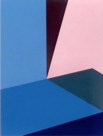 "Bauhaus 4  2018 12x9x1.5"" Flashe vinyl paint on Birch cradled panel"