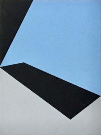 "Bauhaus 5  2018 12x9x1.5"" Flashe vinyl paint on Birch cradled panel"