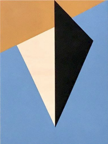 "Bauhaus 7  2018 12x9x1.5"" Flashe vinyl paint on Birch cradled panel"