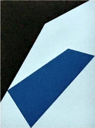 "Bauhaus 9  2018 12x9x1.5"" Flashe vinyl paint on Birch cradled panel"