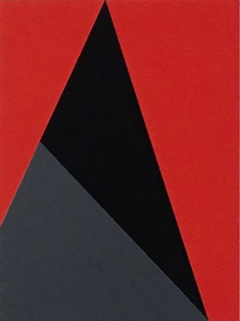 "Bauhaus 10  2018 12x9x1.5"" Flashe vinyl paint on Birch cradled panel"