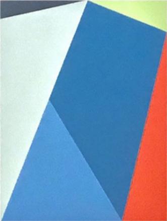 "Bauhaus 8  2018 12x9x1.5"" Flashe vinyl paint on Birch cradled panel"