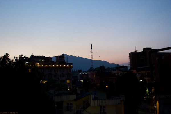 from Manaslu roof at dusk