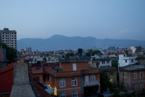 dusk in Kathmandu
