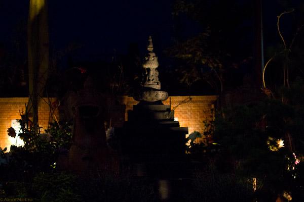stupa in the garden