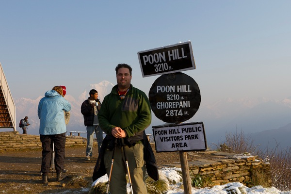 Aaron at Poon Hill