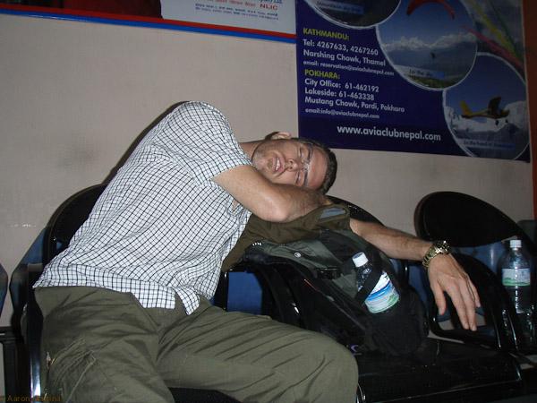 Ben dozing