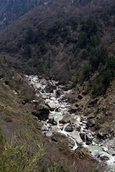 Modi Khola river