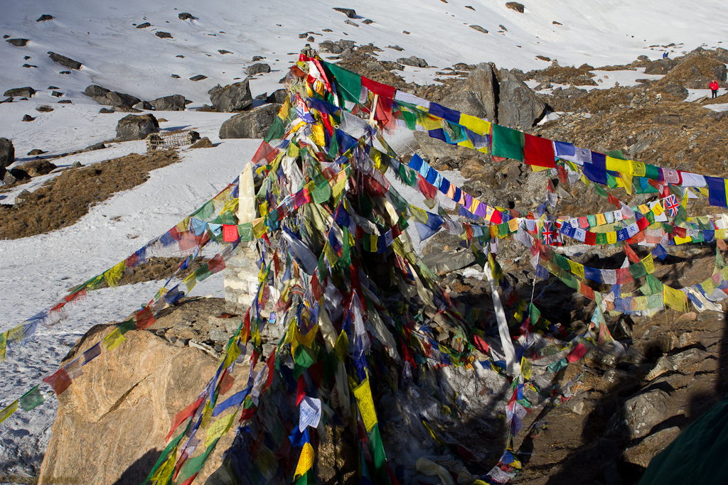 prayer flags at the sanctuary