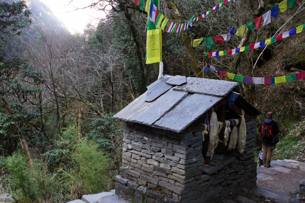 small shrine on the trail