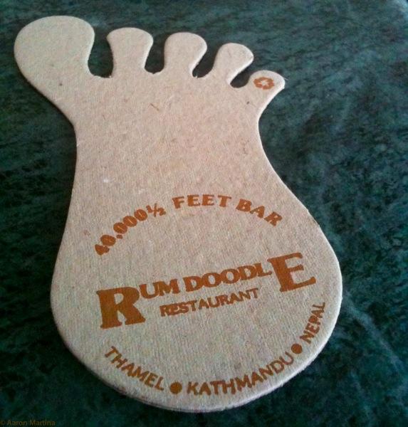 Rum Doodle coaster