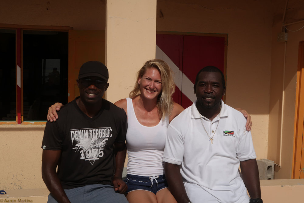 Mike (the captain), Lucie (dive master), Caesar/Albert (dive master)