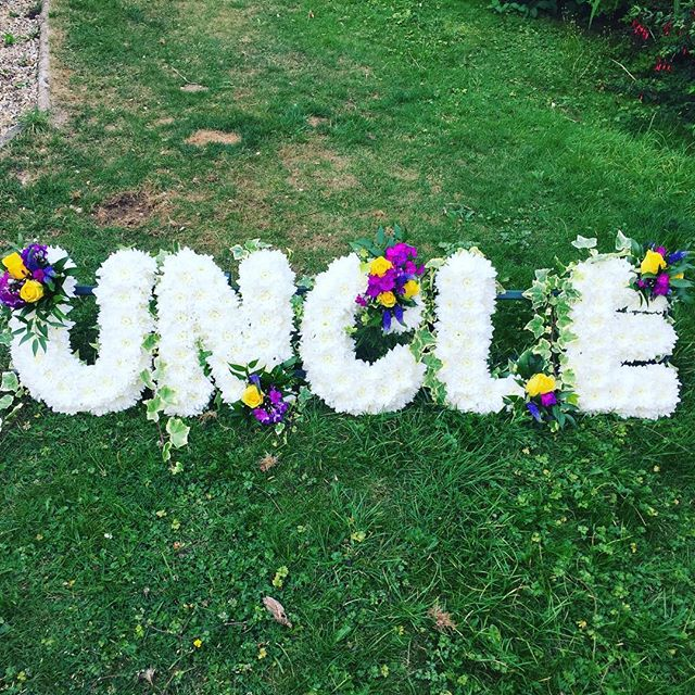 Based Uncle. For a dear uncle to so many. RIP Michael x #funeralflowers #uncle #flowers #sympathy