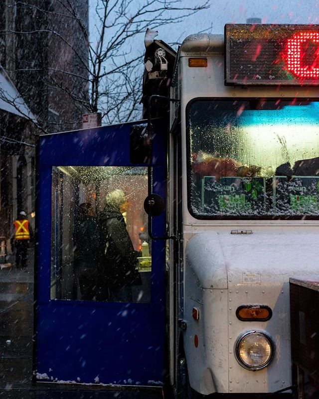 Taco truck in the snow. #nyc #nycfood #upperwestside