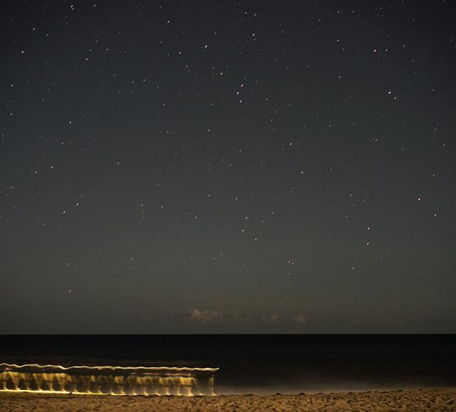 Went looking for meteors in the sky, found one on the beach. #nightphotography #timelapse #drawingwithlight #northcarolina #landscapephotography #travelphotography