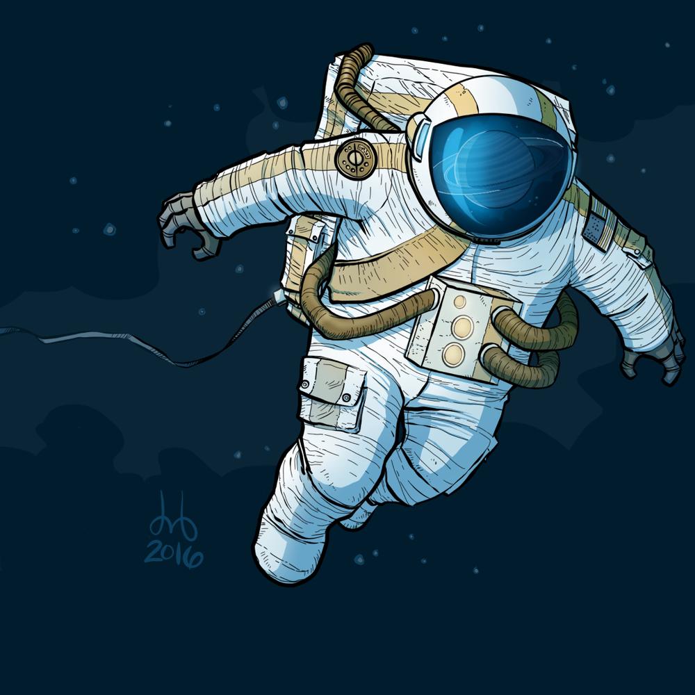 Saturnian Astronaut