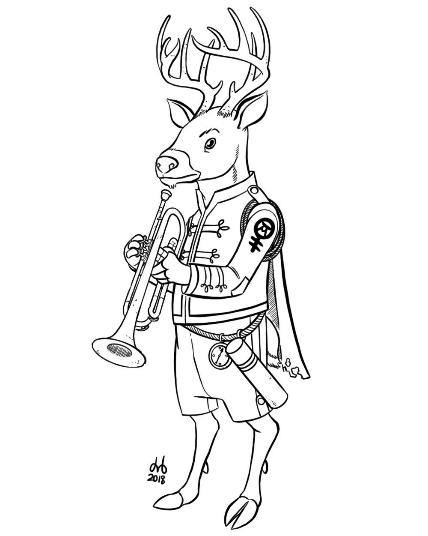 Trumpeter Deer