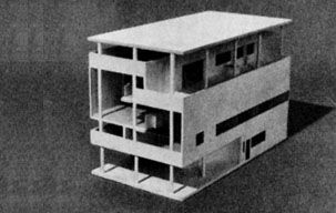 Model of Villa Baizeau by Le Corbusier, Carthage, Tunisia