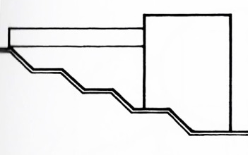 Section Concept Diagram, Bianchi Residence by Mario Botta, from   Precedents in Architecture