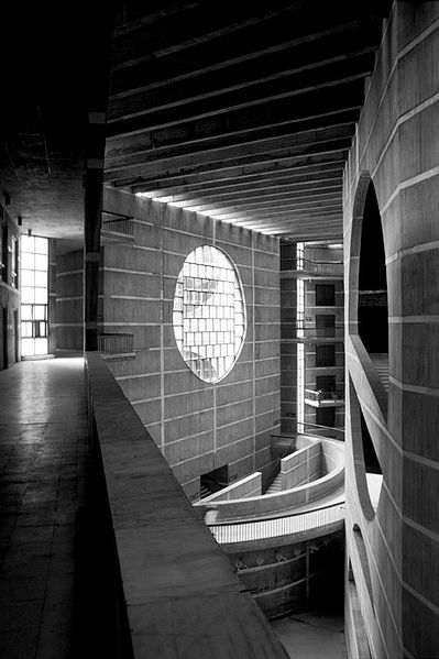 National Assembly Building, Bangladesh by Louis Kahn. https://commons.wikimedia.org/wiki/File:National_Assembly_of_Bangladesh_(385594724).jpg