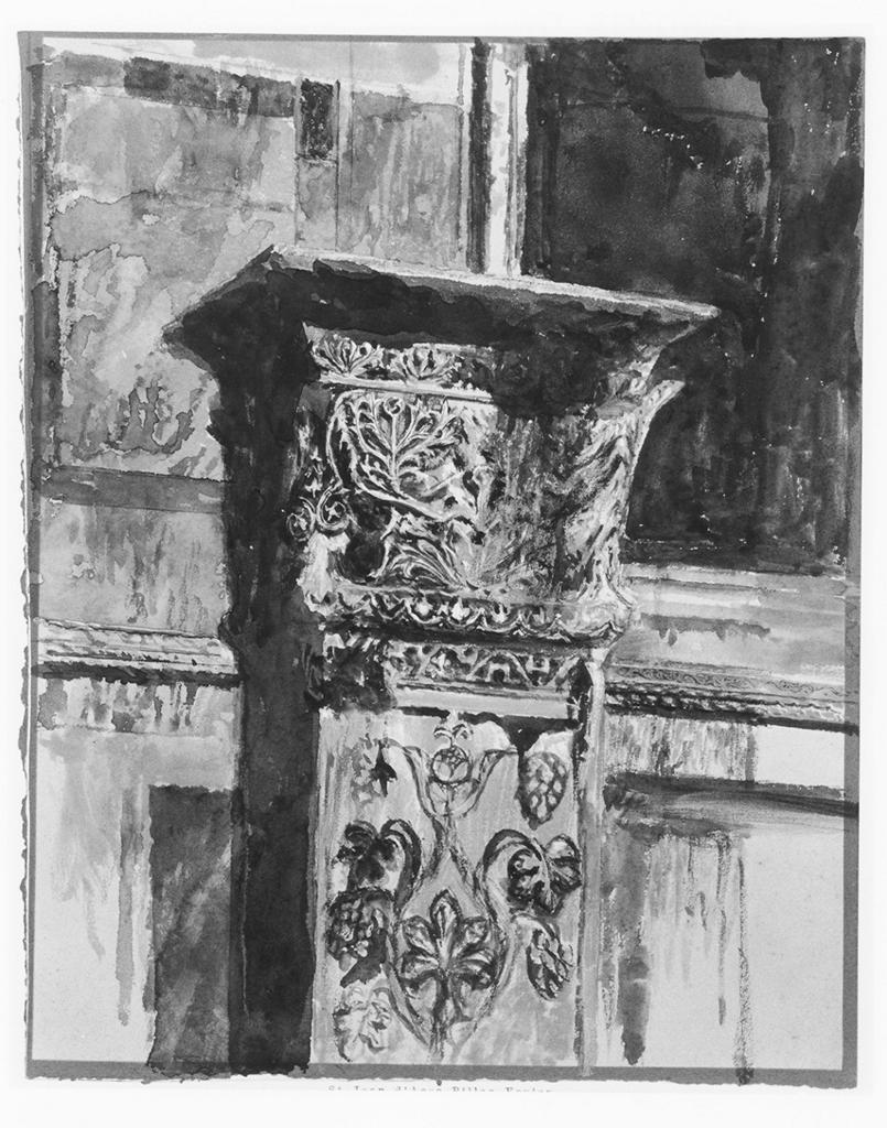 Ruskin, John.  One of the St Jean d'Acre columns, on the south side of St Mark's, Venice . c. 1849. Watercolor and bodycolor on paper. British Museum, London. ARTstore. Web. 04-05-2017.