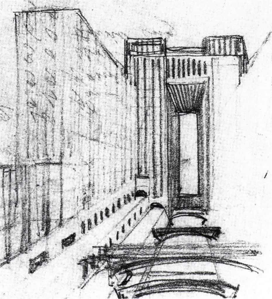 Sant'Elia, Antonio, Manifesto dell'Architecttura Futurista .1914. Drawing.Avery Architectural & Fine Arts Library, Columbia University, New York. ARTstore.Web. 04-12-2017.