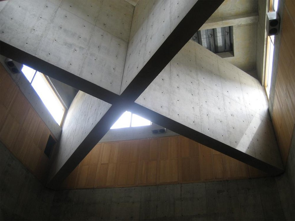 Kahn, Louis.  Phillips Exeter Academy Library View Description: interior, atrium, cross bracing detail . New Hampshire, United States. 1969-71. Photographer: Jarzombek, Mark. Sahara Collection. Web. 05-30-2017.
