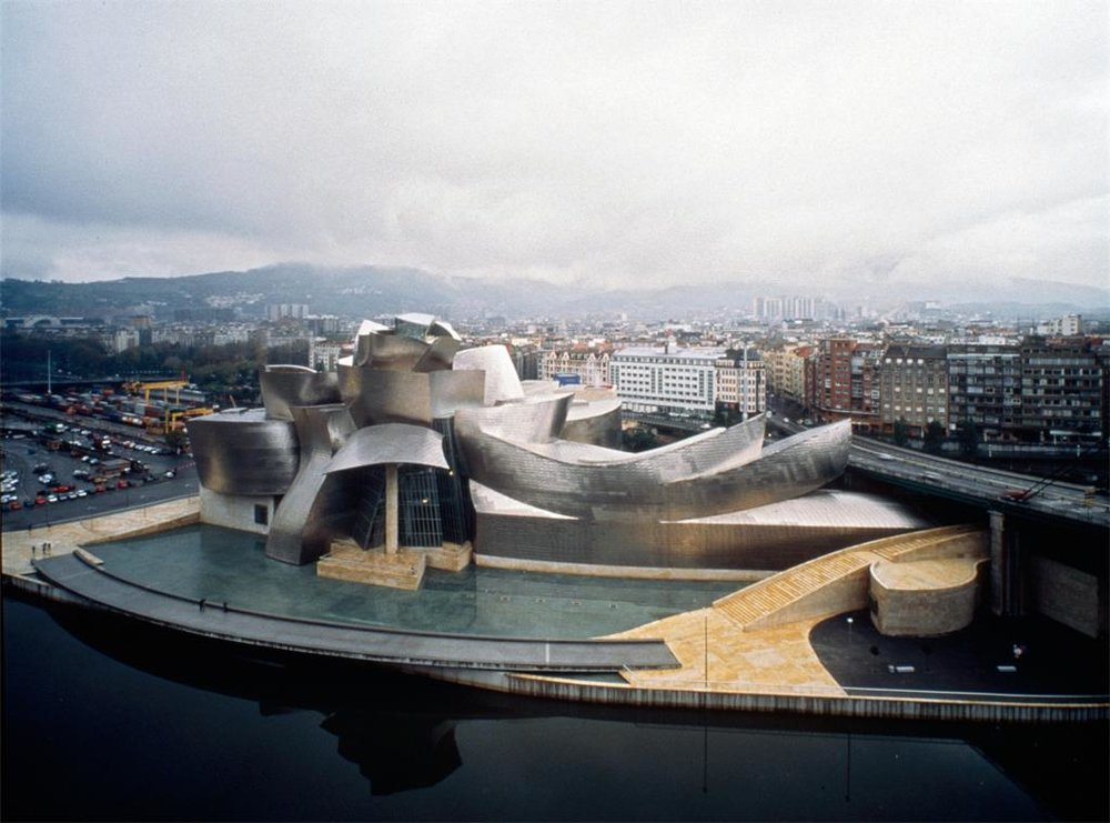 Gehry, Frank Owen. Guggenheim Museum, Bilbao, Spain. 1993-7. Drawing. Photographer: David Heald. Collection: Contemporary Art (Larry Quallis Archive): ARTstore. Web. 06-12-2017.