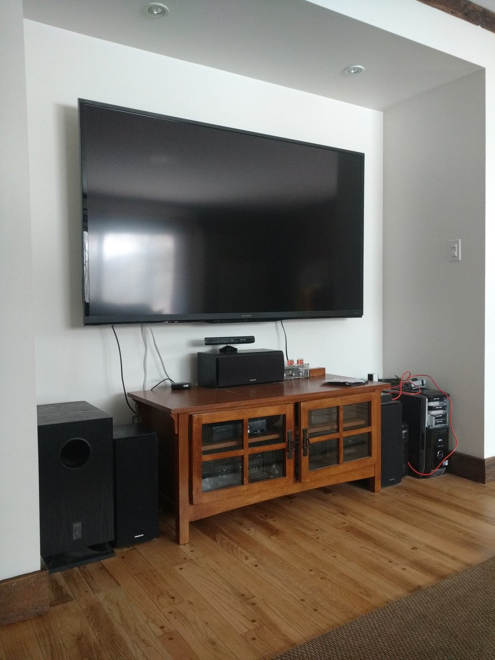 """My husband """"rescued"""" our TV from the garbage and fixed a few blown out parts. Andy is great about reusing and repurposing. He certainly does come home with some treasures."""
