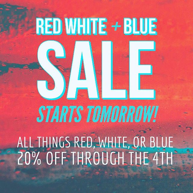 Sale in store and on the van @shopcontravan ❤️💙❤️