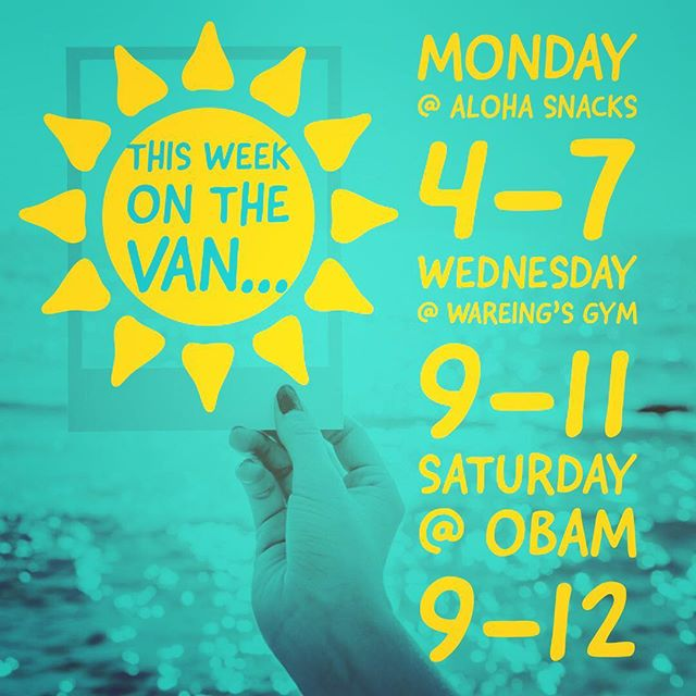 We've got a lot going on this week on the van! First stop @alohasnacksvb 🐟🍲🍹🤙 tomorrow 4-7p! Bring your babes and babies and come by for a fun, family friendly dinner and a little shopping.  All @chaserkids will be 20% off!