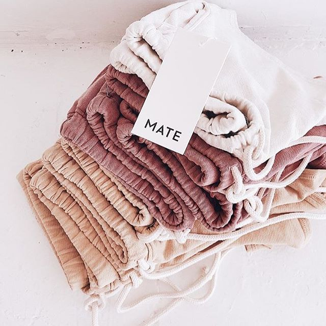 Give me all the loungewear please 🙋‍♀️ @mate perfects the sweat set in the most flattering cuts, softest materials, and prettiest dyes. Now stocked in all three colors 🌟